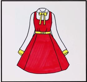 2021年红色连衣裙简笔画