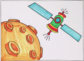 2021年嫦娥探月简笔画
