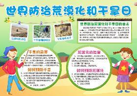 2021年世界防治荒漠化和干旱日手抄报