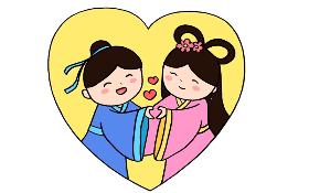 2021年七夕简笔画
